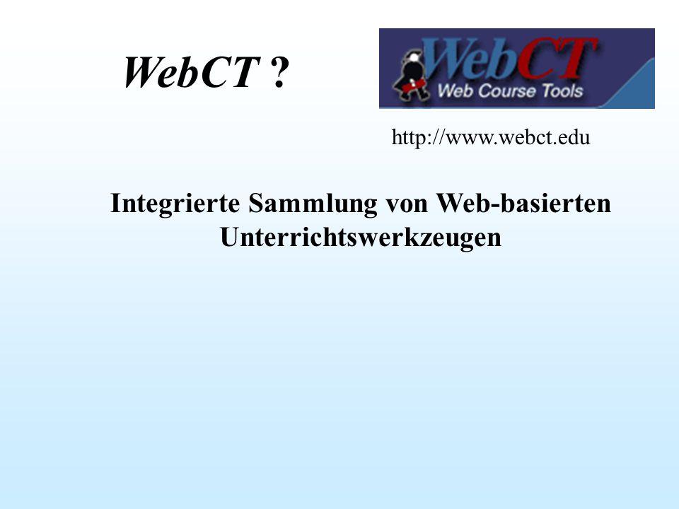 Integrierte Sammlung von Web-basierten Unterrichtswerkzeugen
