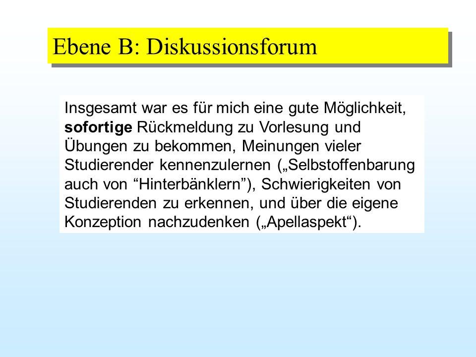 Ebene B: Diskussionsforum