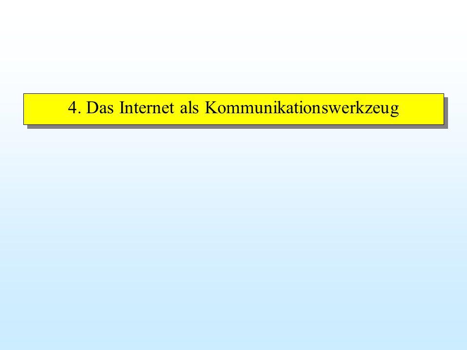 4. Das Internet als Kommunikationswerkzeug