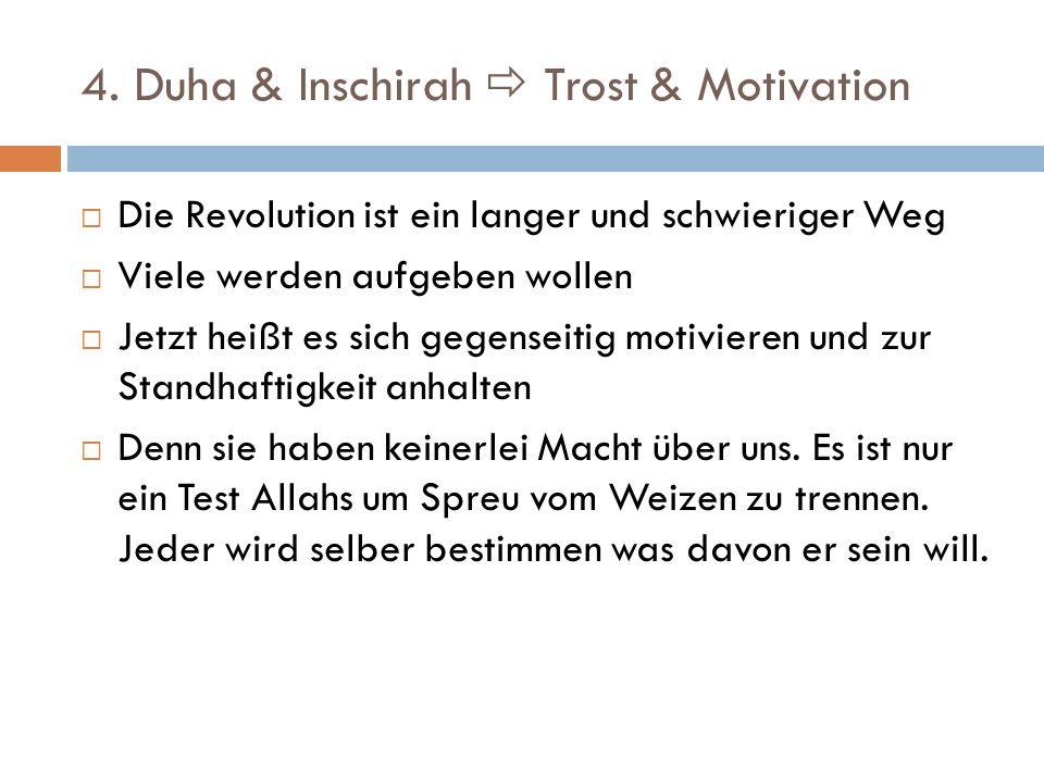 4. Duha & Inschirah  Trost & Motivation