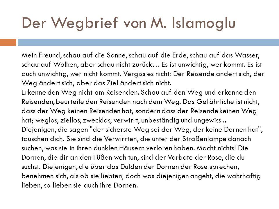 Der Wegbrief von M. Islamoglu