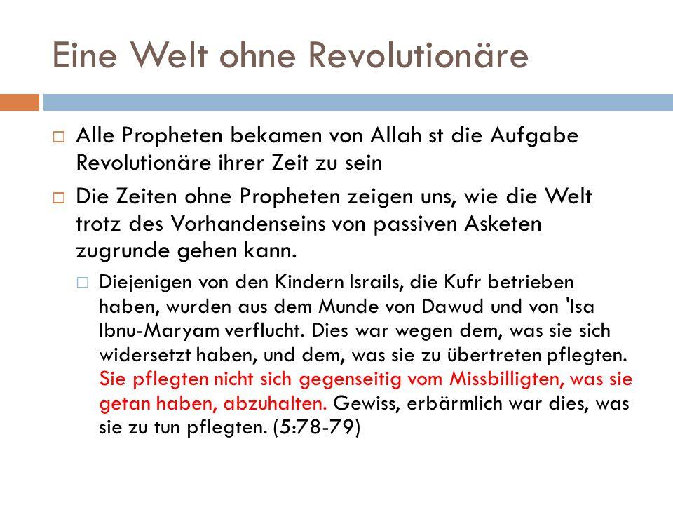 Eine Welt ohne Revolutionäre