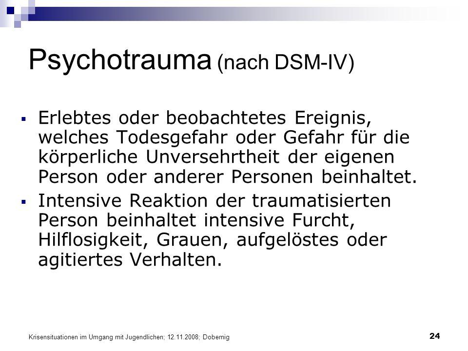 Psychotrauma (nach DSM-IV)