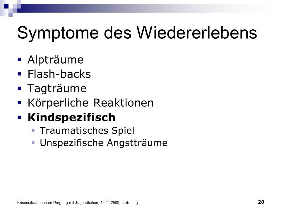 Symptome des Wiedererlebens