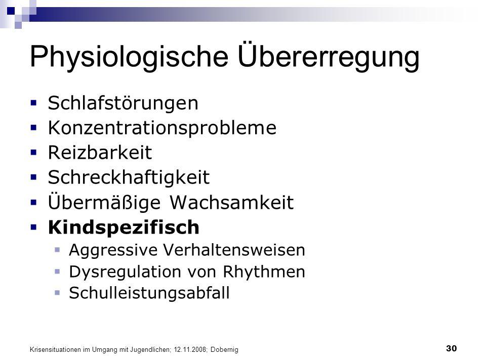 Physiologische Übererregung