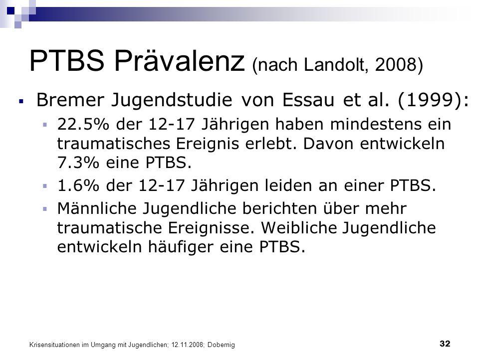 PTBS Prävalenz (nach Landolt, 2008)