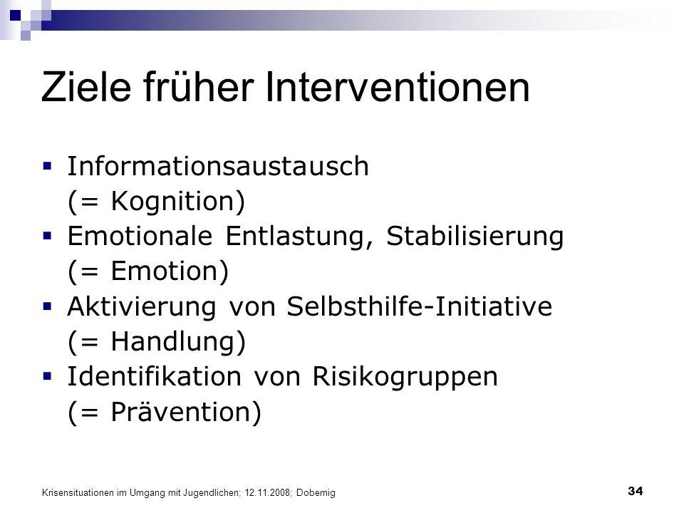 Ziele früher Interventionen