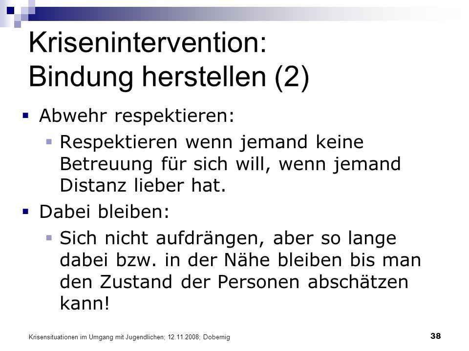 Krisenintervention: Bindung herstellen (2)
