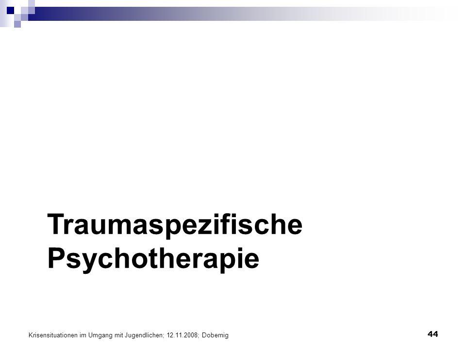 Traumaspezifische Psychotherapie