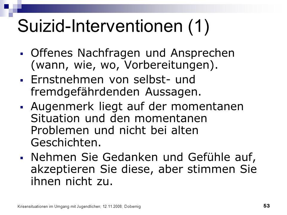 Suizid-Interventionen (1)