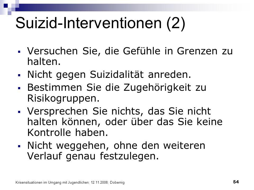 Suizid-Interventionen (2)