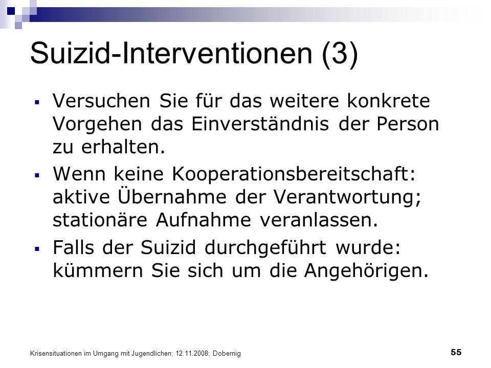 Suizid-Interventionen (3)