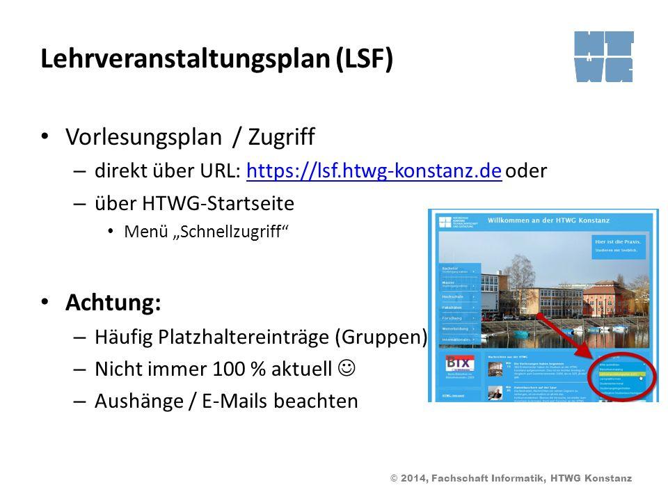 Lehrveranstaltungsplan (LSF)