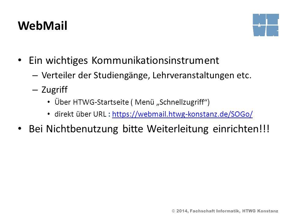 WebMail Ein wichtiges Kommunikationsinstrument
