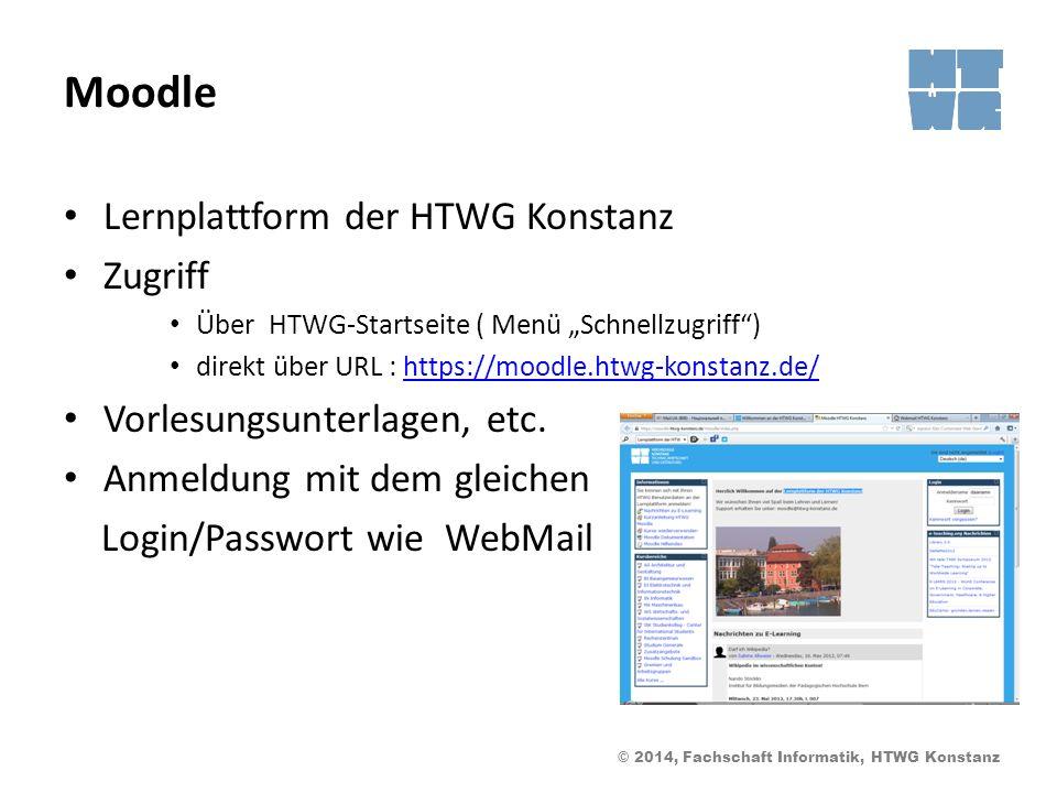 Moodle Lernplattform der HTWG Konstanz Zugriff