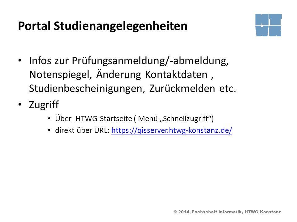Portal Studienangelegenheiten