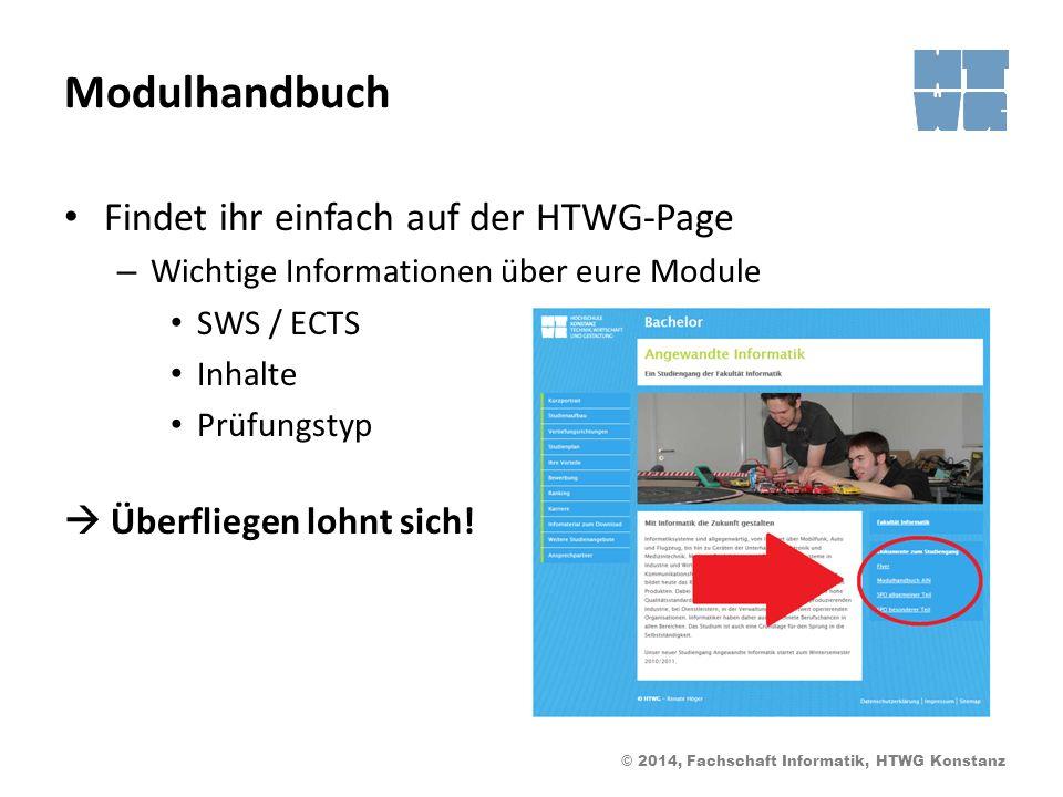 Modulhandbuch Findet ihr einfach auf der HTWG-Page