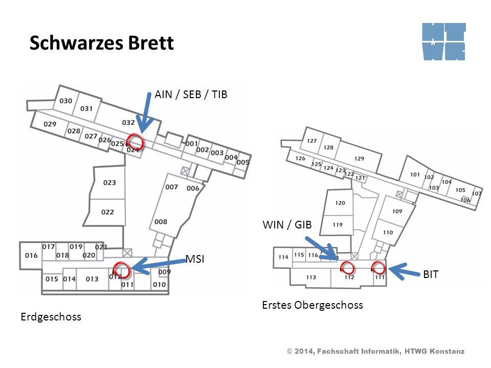 Schwarzes Brett AIN / SEB / TIB WIN / GIB MSI BIT Erstes Obergeschoss