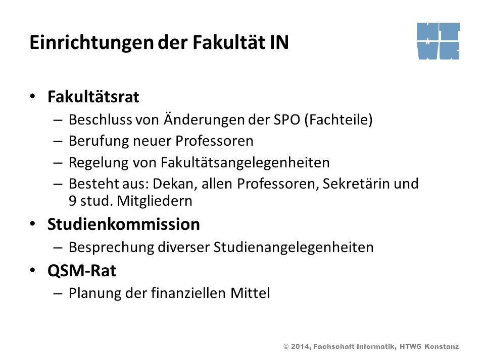 Einrichtungen der Fakultät IN