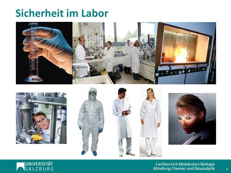 Sicherheit im Labor 2