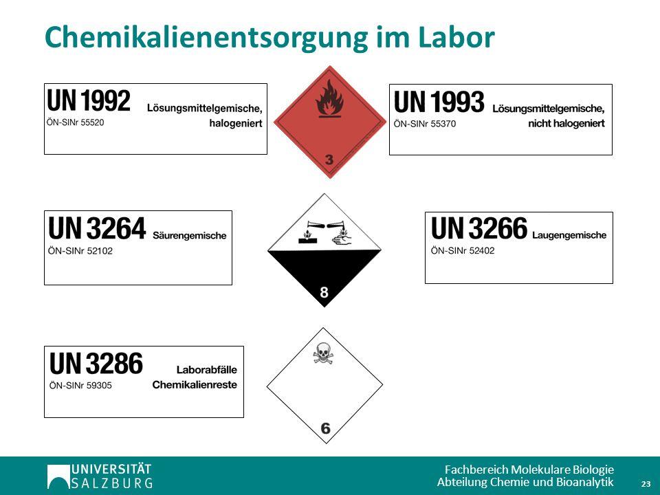 Chemikalienentsorgung im Labor