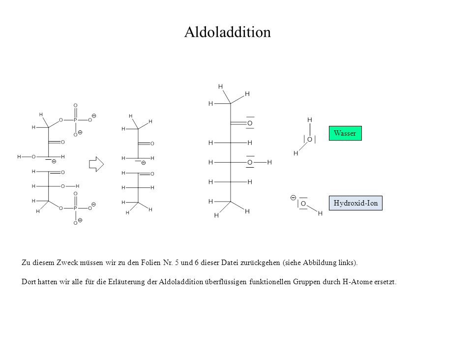 Aldoladdition Wasser Hydroxid-Ion