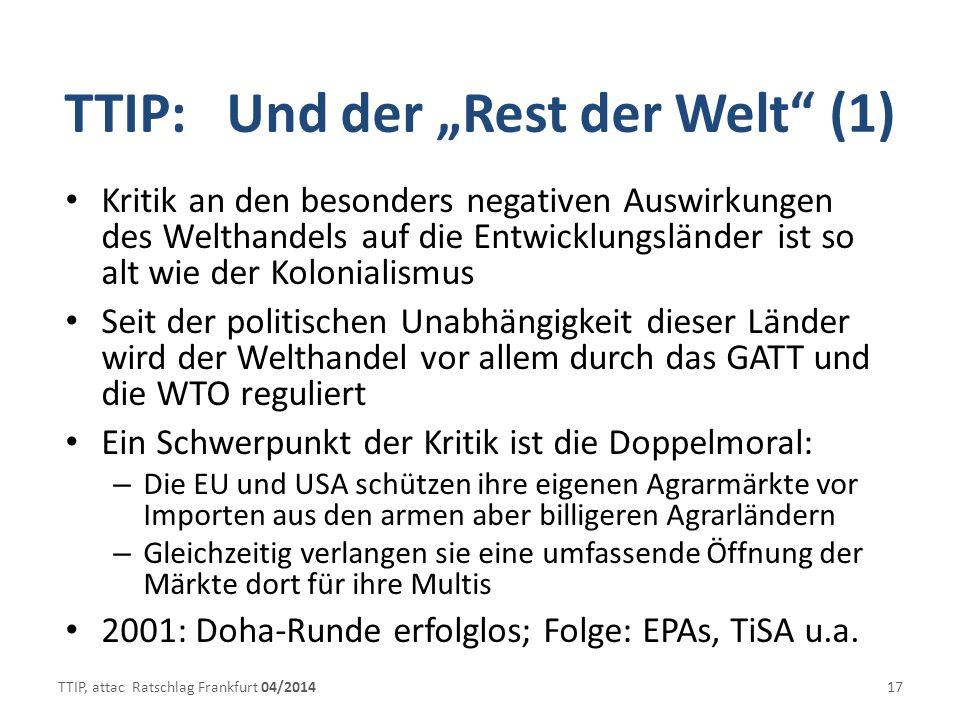 """TTIP: Und der """"Rest der Welt (1)"""