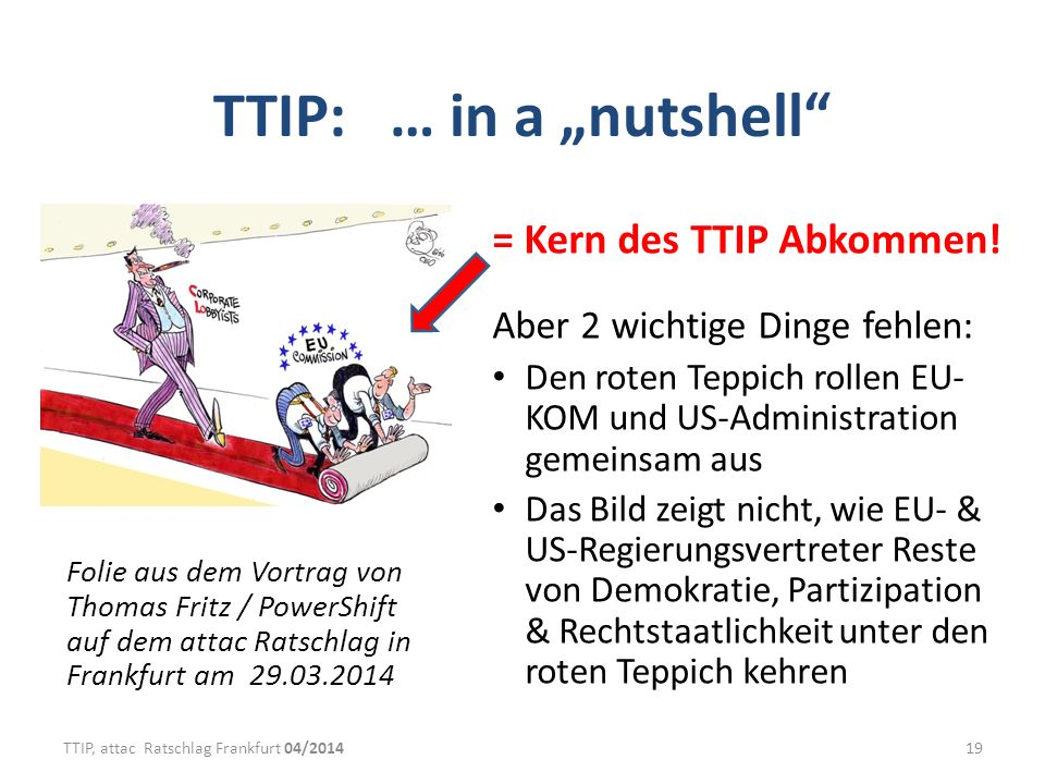 "TTIP: … in a ""nutshell = Kern des TTIP Abkommen!"