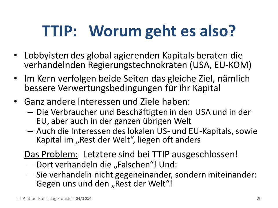 TTIP: Worum geht es also