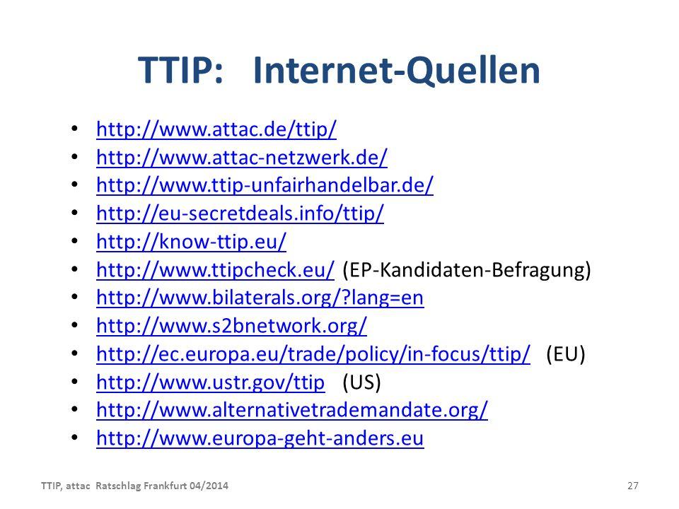 TTIP: Internet-Quellen