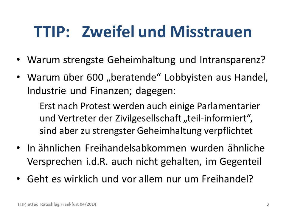 TTIP: Zweifel und Misstrauen