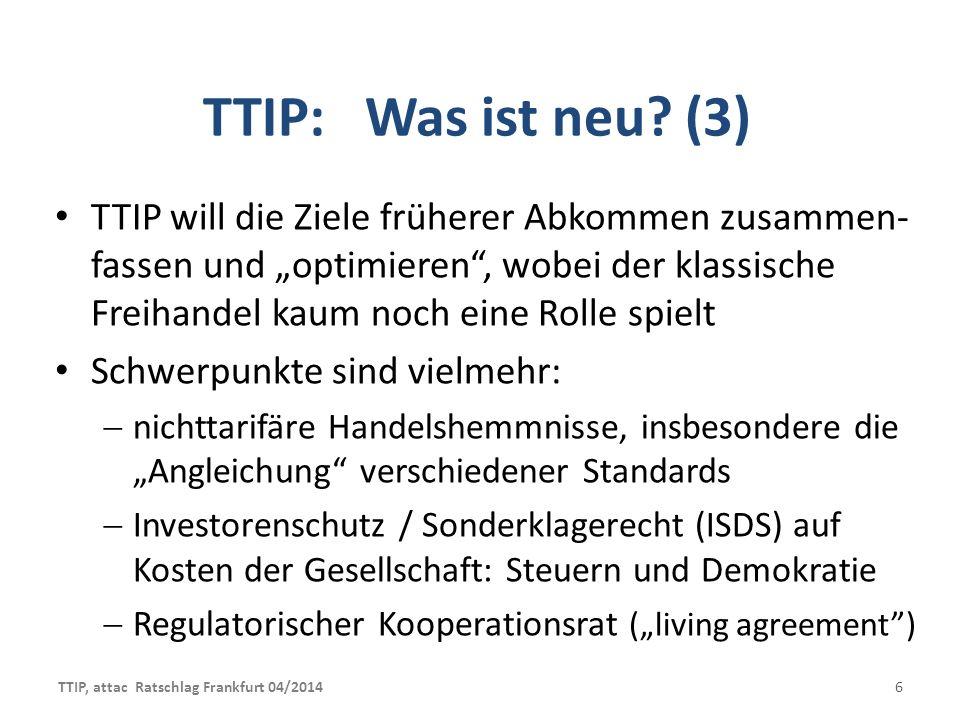 TTIP: Was ist neu (3)