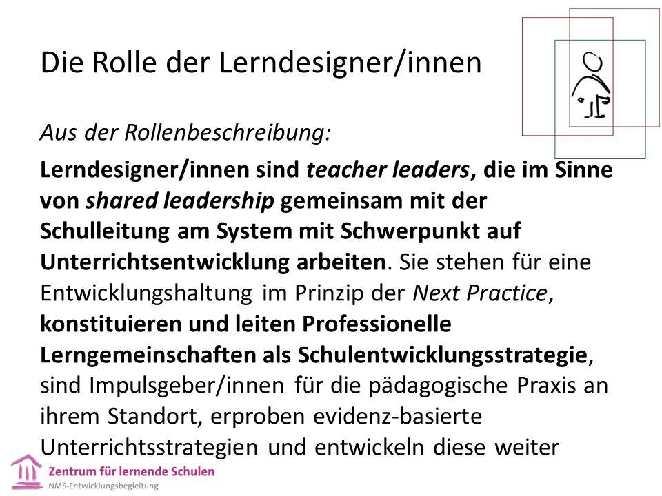 Die Rolle der Lerndesigner/innen