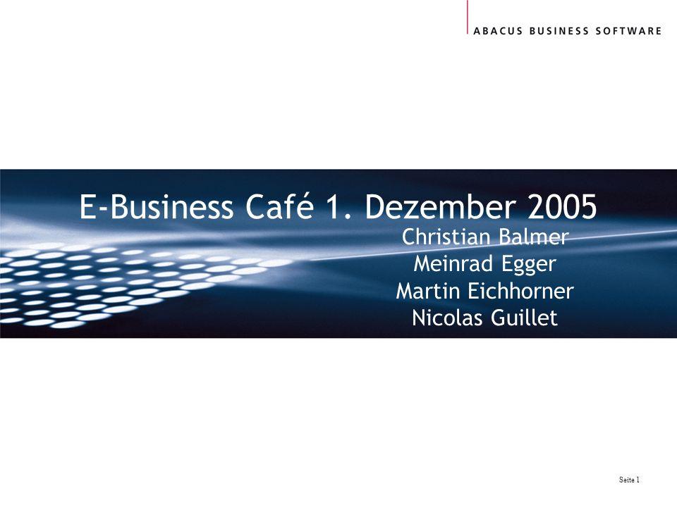 E-Business Café 1. Dezember 2005