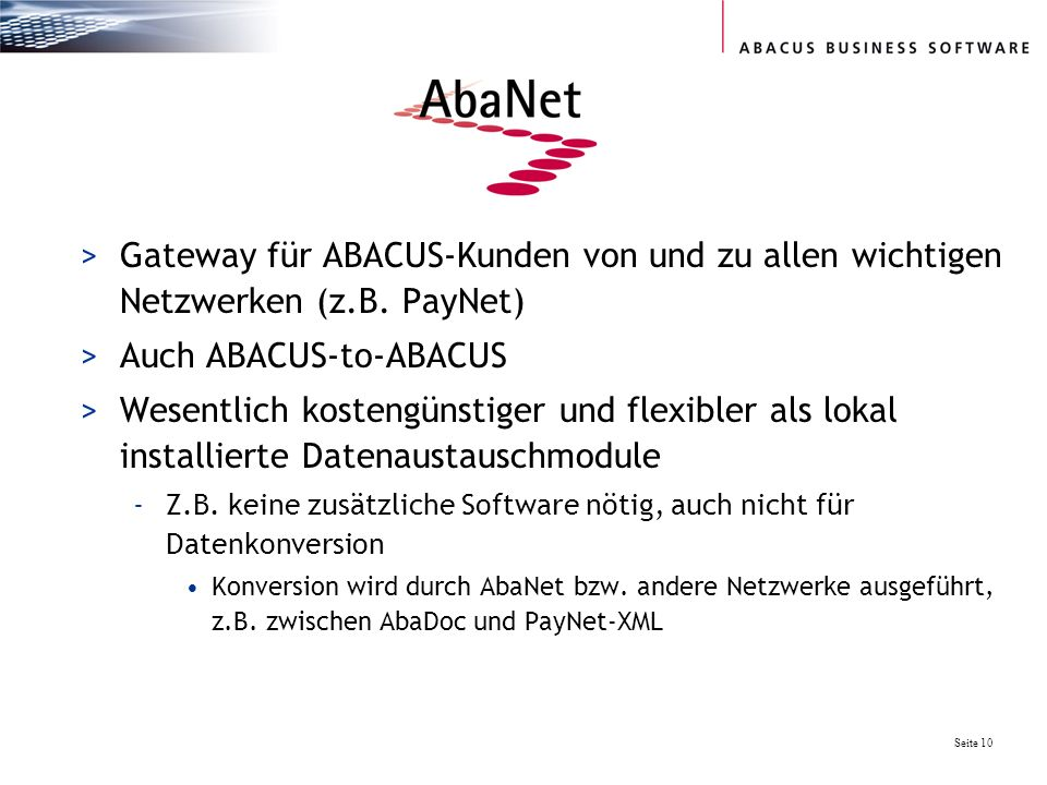 Auch ABACUS-to-ABACUS