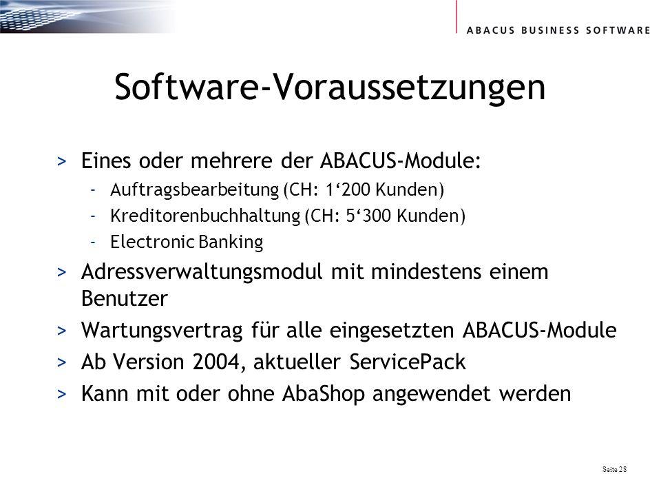 Software-Voraussetzungen