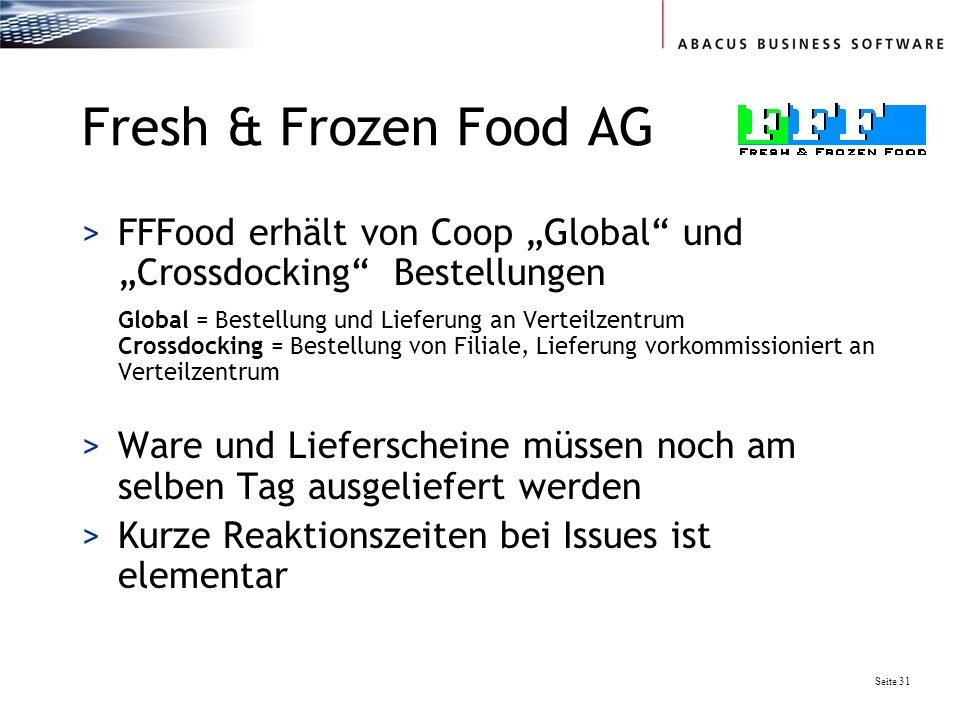 Fresh & Frozen Food AG