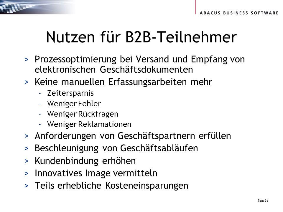 Nutzen für B2B-Teilnehmer