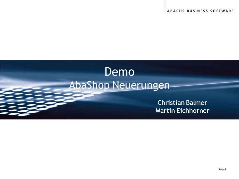 Demo AbaShop Neuerungen