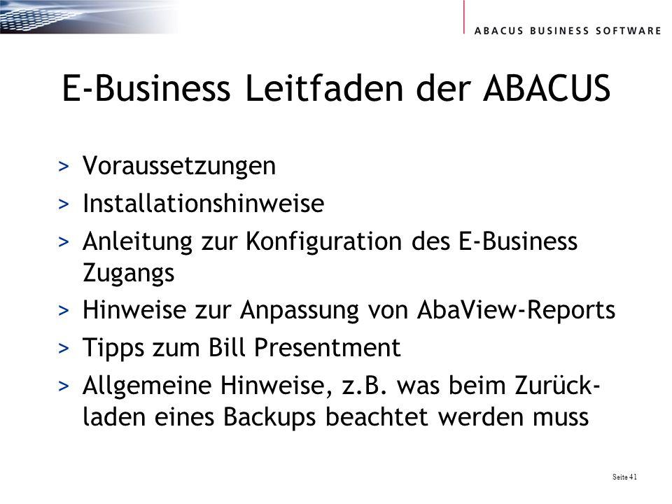 E-Business Leitfaden der ABACUS
