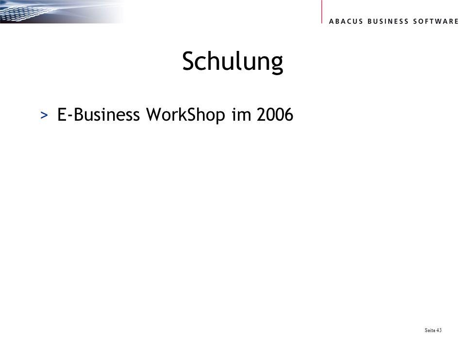 Schulung E-Business WorkShop im 2006