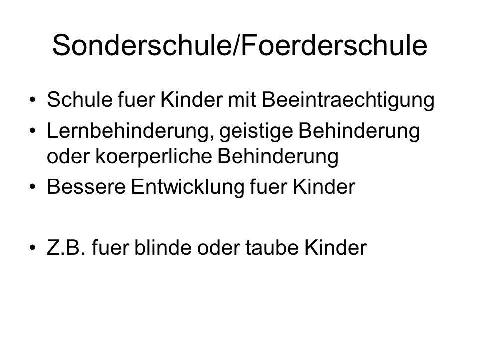 Sonderschule/Foerderschule