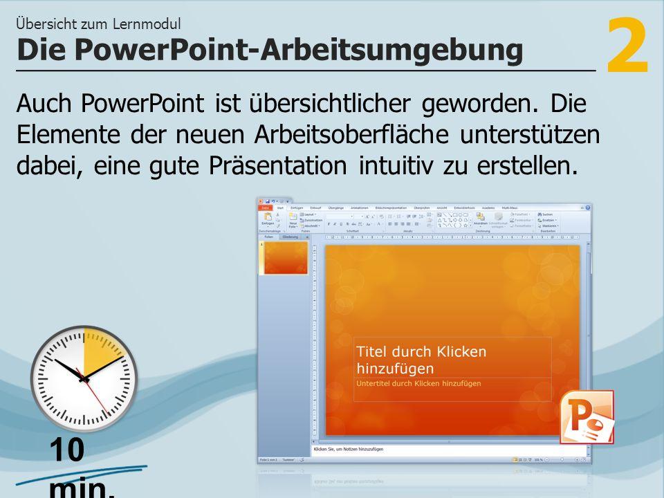 Die PowerPoint-Arbeitsumgebung