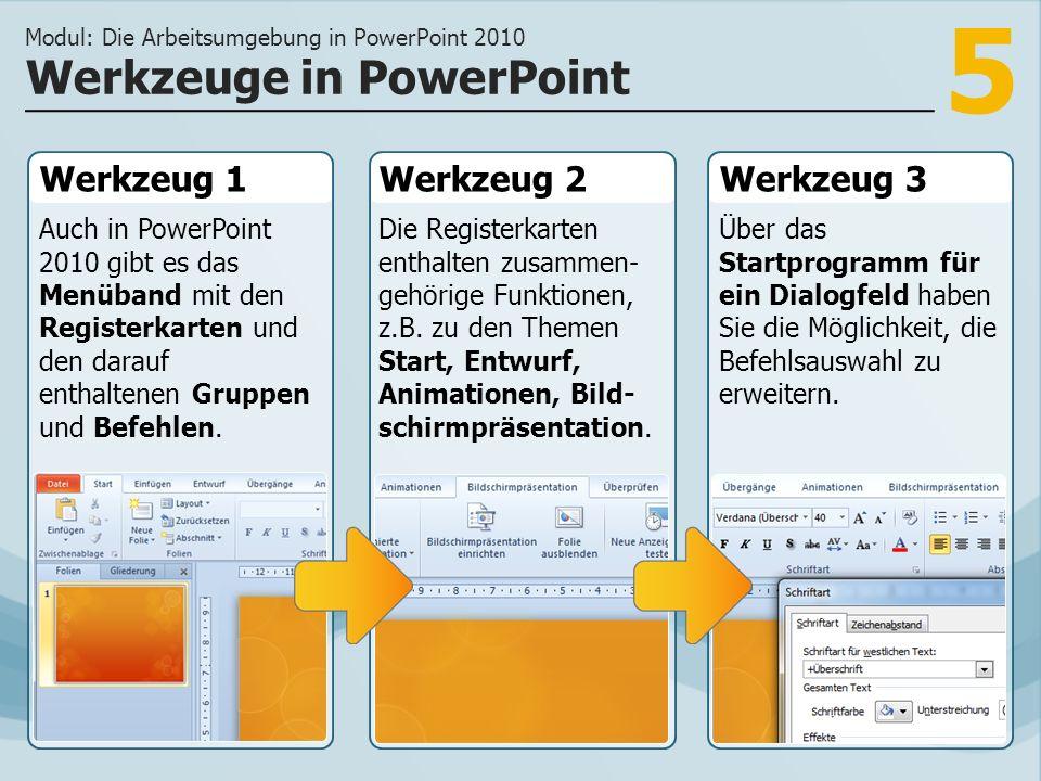 Werkzeuge in PowerPoint