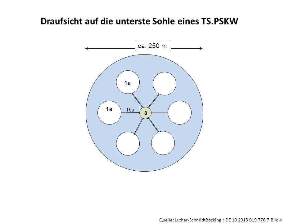 Draufsicht auf die unterste Sohle eines TS.PSKW