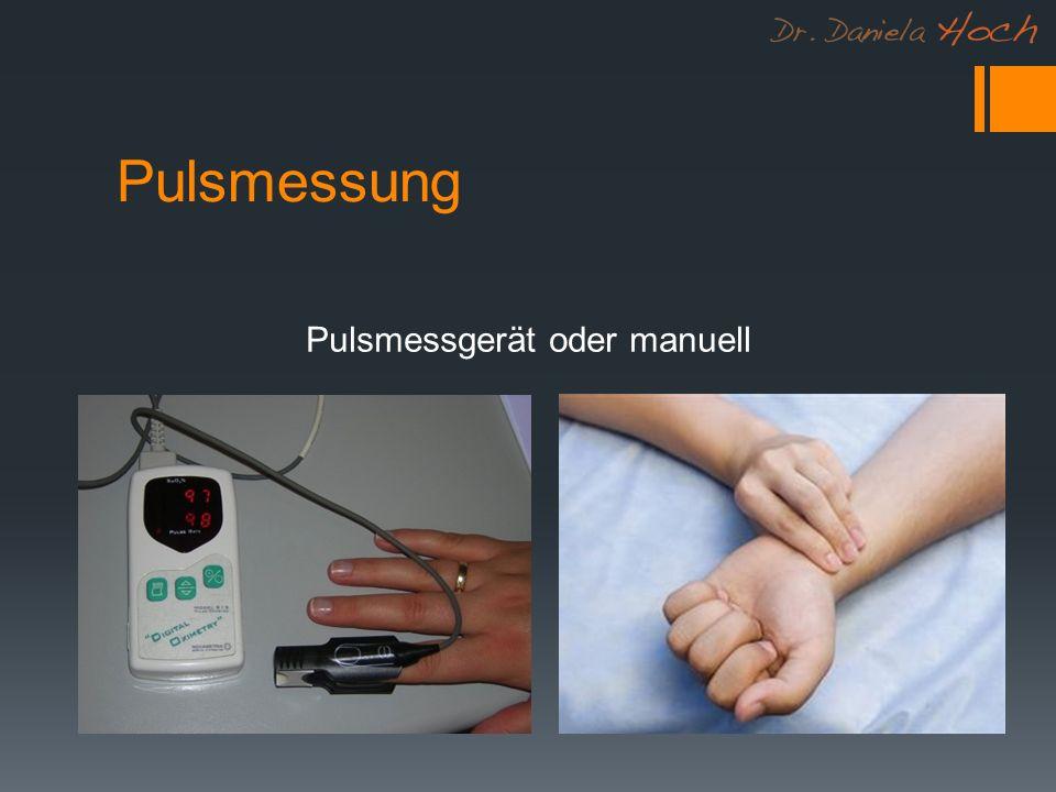 Pulsmessung Pulsmessgerät oder manuell