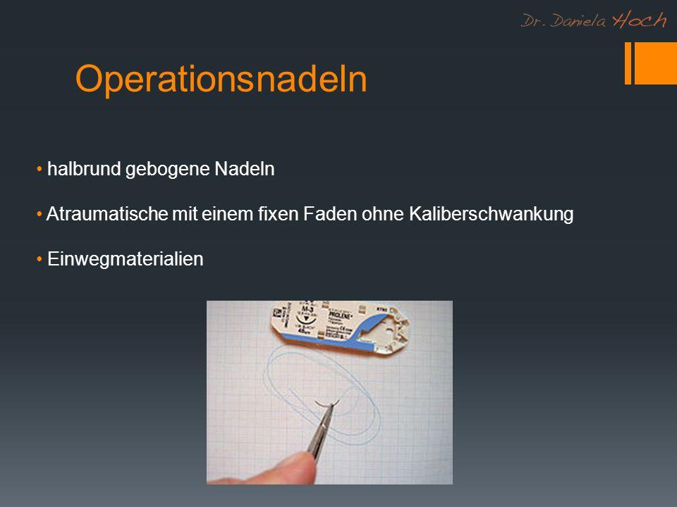 Operationsnadeln halbrund gebogene Nadeln