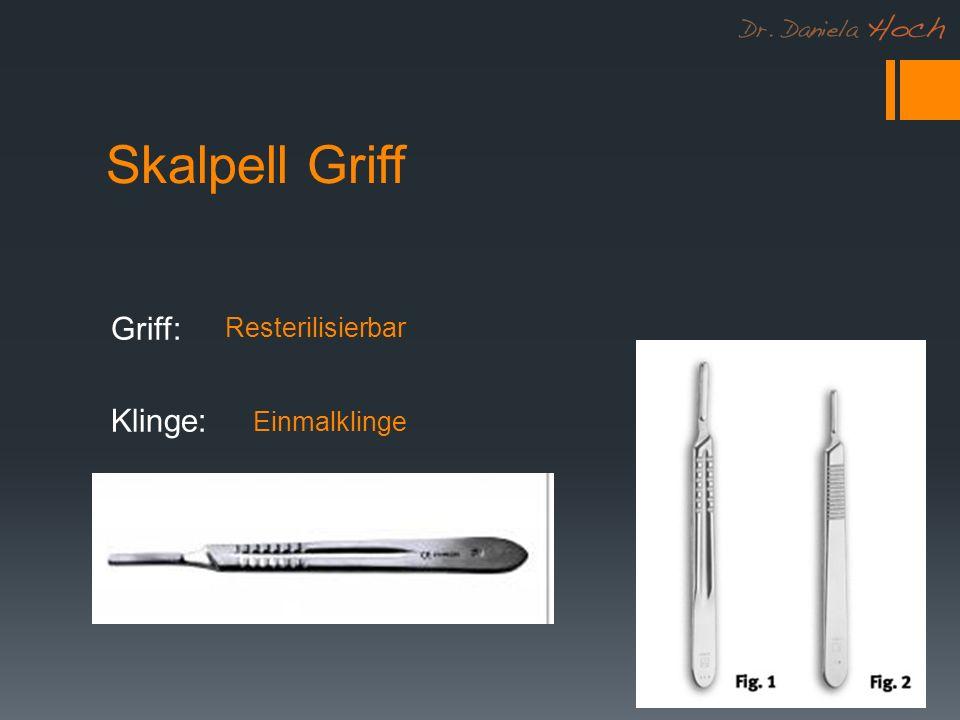Skalpell Griff Griff: Klinge: Resterilisierbar Einmalklinge