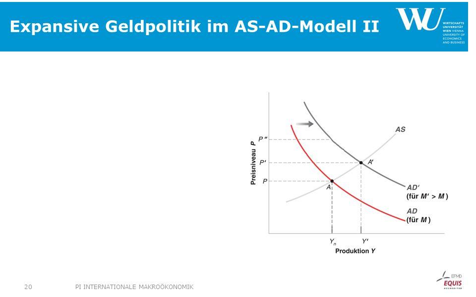 Expansive Geldpolitik im AS-AD-Modell II