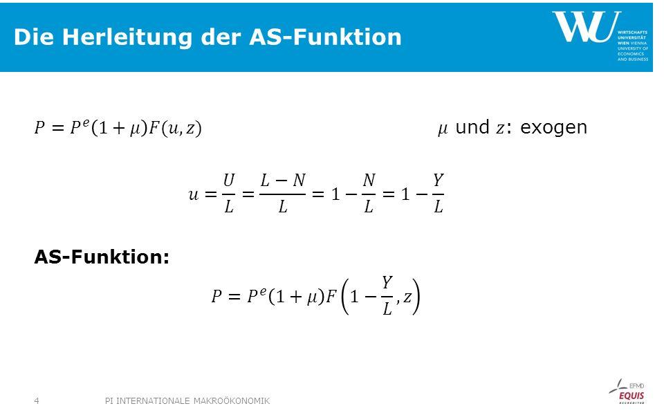 Die Herleitung der AS-Funktion